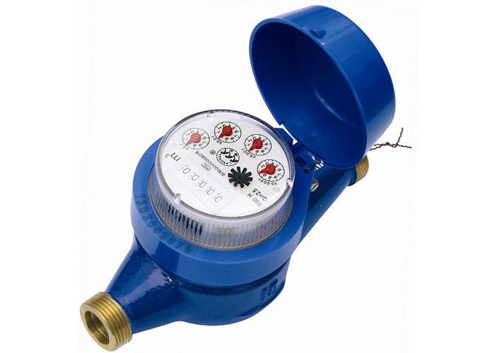 DN25 Propeller Multi Jet Water Meters With Dry - Dial For Cold Water Flow Rate And Totalizer